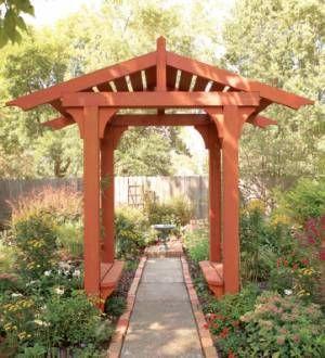 Merveilleux Timber Frame Garden Arbor Plans (Downloadable Plan)