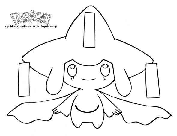 jirachi Pokemon Coloring Pages
