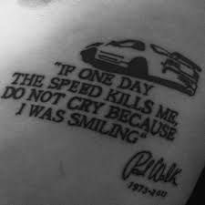 Image Result For Paul Walker Tattoo Tatuering