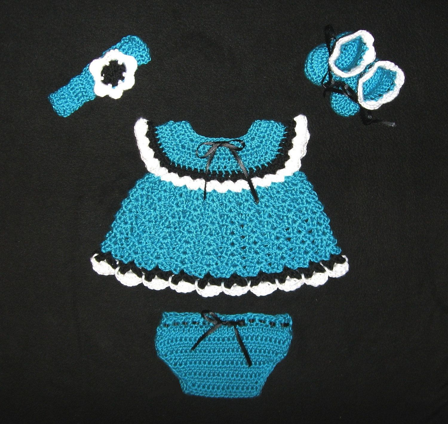 Diaper Dress Set with Hat, Booties, and Diaper Cover Newborn to 3 months READY TO SHIP. $24.00, via Etsy.