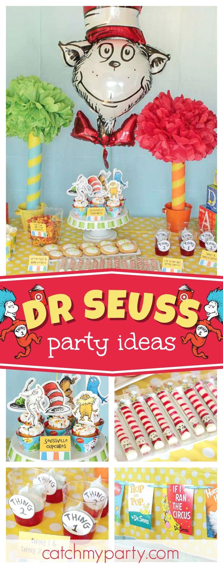 "Dr. Seuss / Birthday ""Dr. Seuss Birthday Party"" Dr suess"