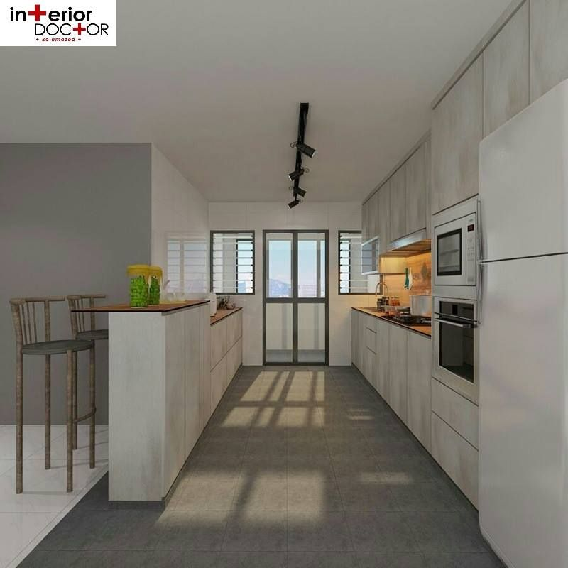 Kitchen Interior Design Singapore: HDB BTO 5-Room Scandinavian At Blk 523D Green Leaf