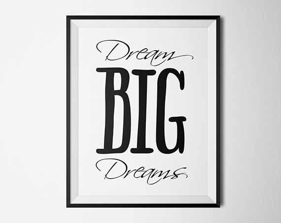 Dream Big Dreams Printable Kids Fantasy Print by PrintableKittens