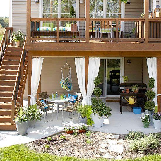 Balcon Terraza Madera Outside Patios Terraza Jardin Y