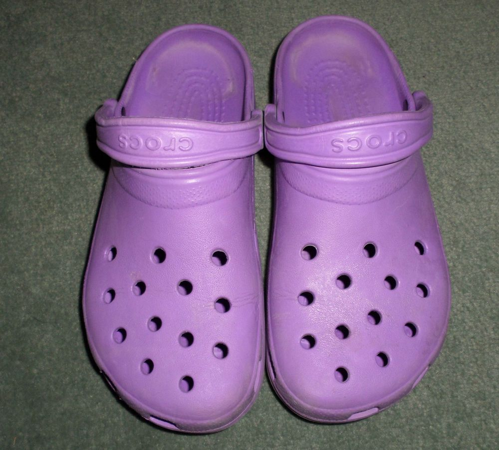 Women's Purple CROCS Slip On Clogs Comfort Shoes, Size 9, Good Shape! #Crocs #SlipOnClogsShoes