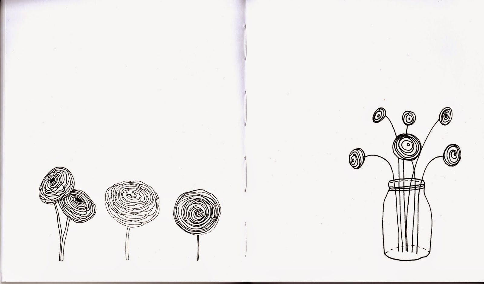 How to Draw a Ranunculus From the Mini-Book, Draw 500 Fabulous Flowers by Lisa Congdon - Quarto Homes