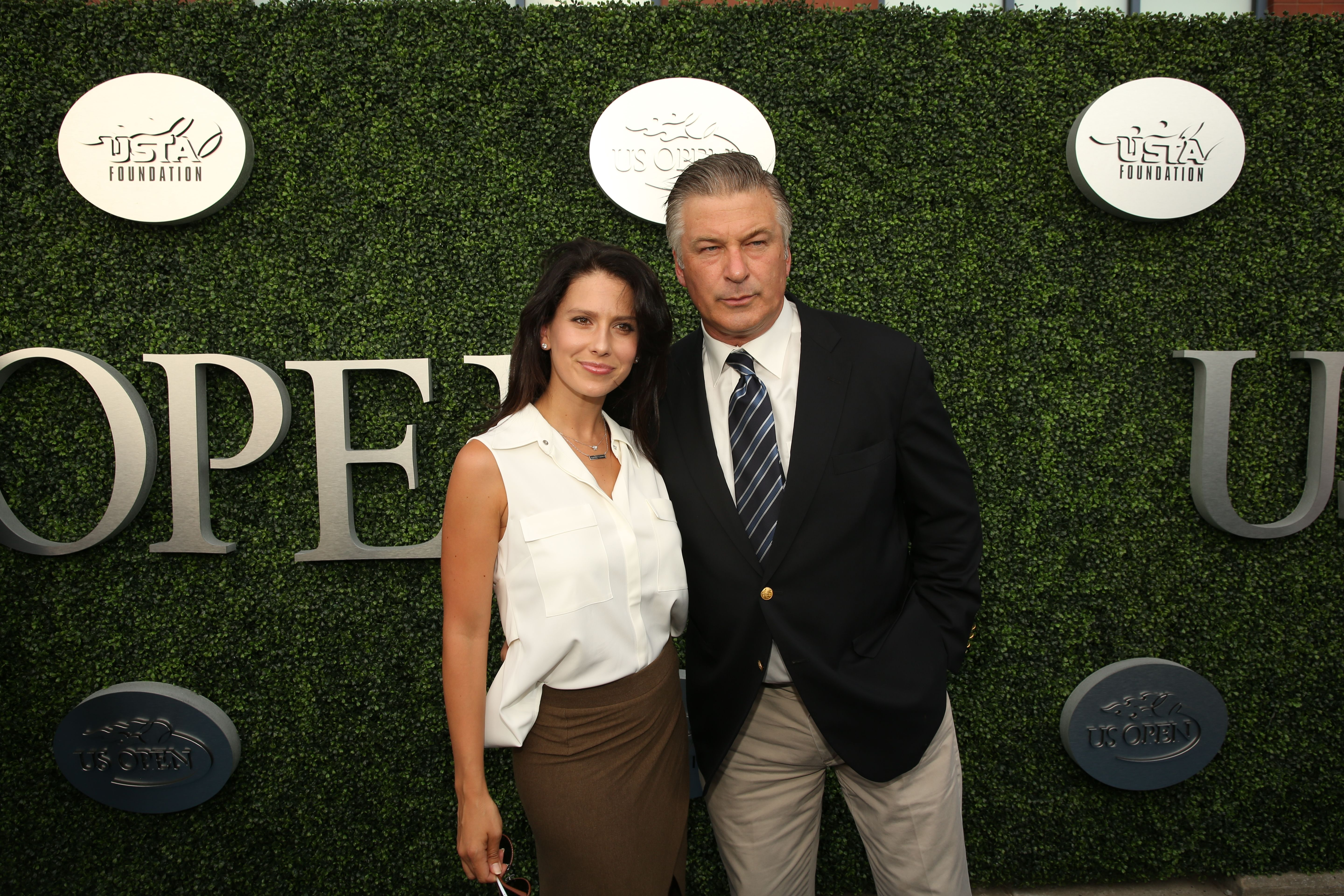Alec Baldwin and wife Hilaria arrive on the Blue Carpet for Opening Night
