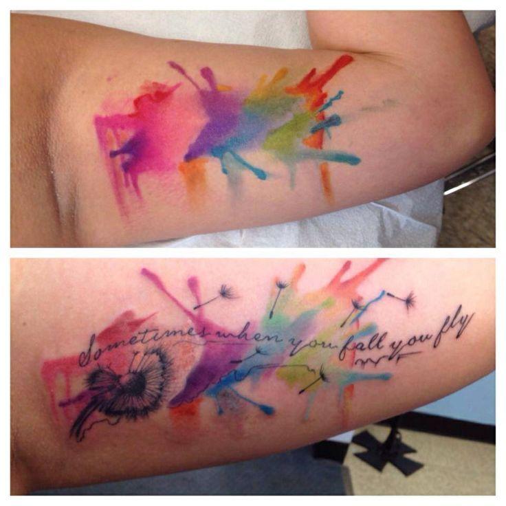 watercolour splash buscar con tattooed