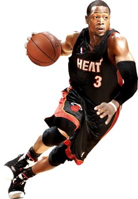 D Wade Psd 455214 Png 277 400 Miami Heat Nba Lebron James Fathead