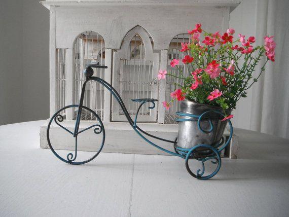 Bike Planter Plant Holder Bike Decor Indoor Outdoor By ShabbyRoad