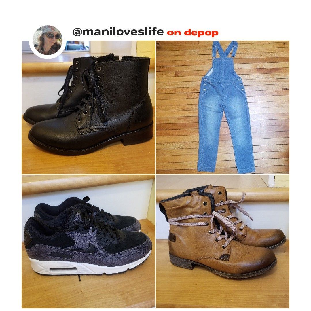 81e1793201e216 Follow me on depop!  depop  fashion  clothes  shoes  overalls  gap  nike   rieker  thursdaybootcompany