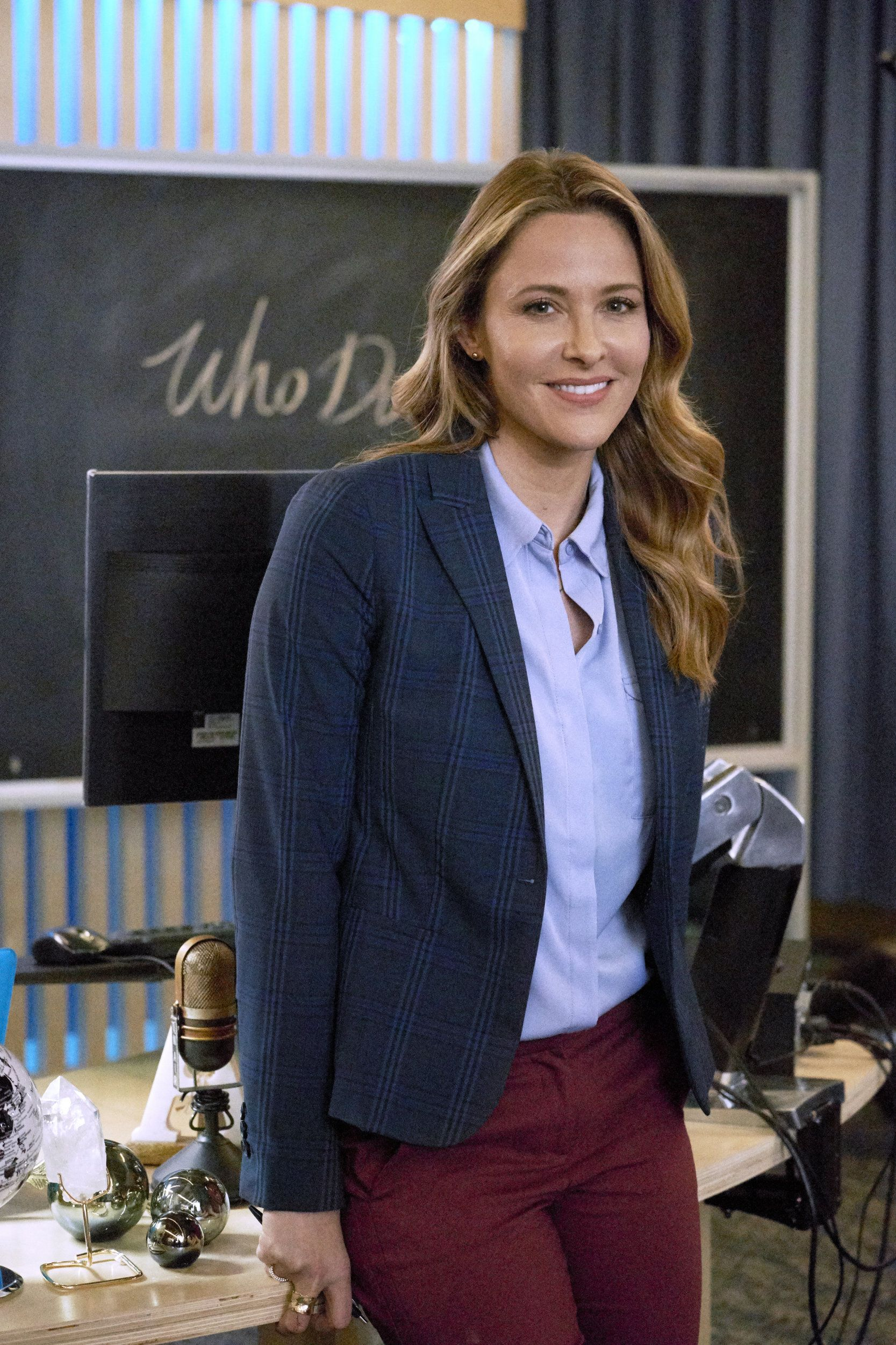 Find Out More About The Cast Of The Hallmark Movies Mysteries Movie Mystery 101 Starring Jill Wagner And Kristoffe Jill Wagner Movies Outfit Career Outfits