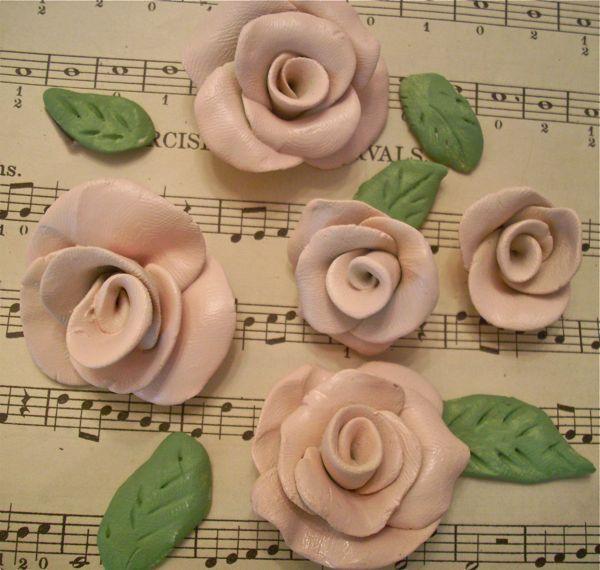 The Closet Polka Dot: Come Fare Polymer Roses argilla