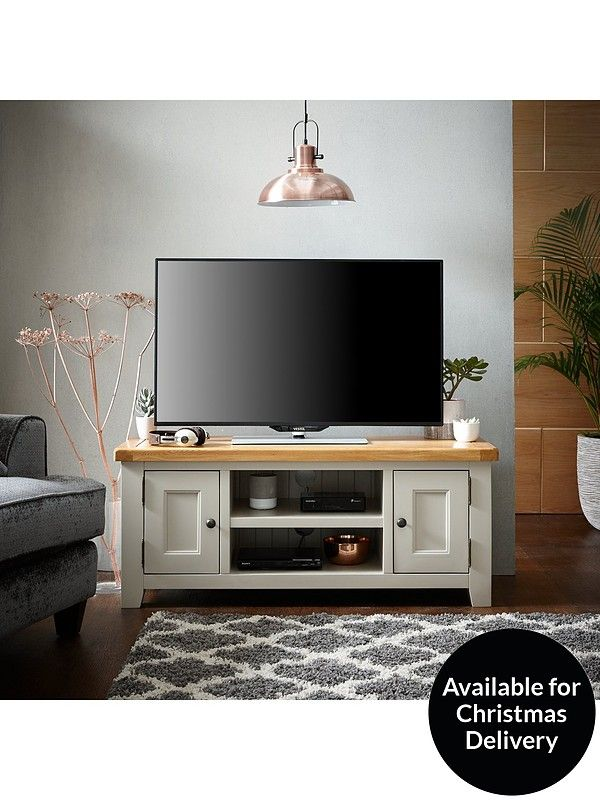 Latest Tv Unit Design: Oakland Painted 100% Solid Wood Ready Assembled Large TV