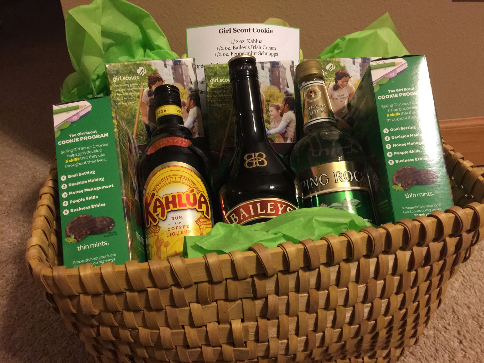 Girl Scout cookie basket | Gift baskets | Pinterest | Cookie baskets ...
