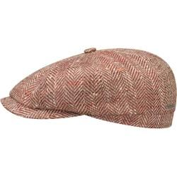 Stetson Hatteras Herringbone Silk Flatcap Schirmmütze Ballonmütze Seidencap Sommercap StetsonStetson