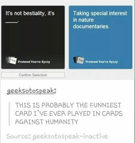 Oh My God Cards Against Humanity Funny Tumblr Funny Just For Laughs