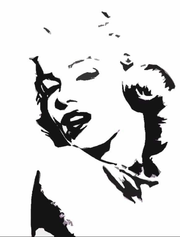 Marilyn Monroe Stencil By Diablometal On Deviantart Marilyn Monroe Stencil Marilyn Monroe Painting Marilyn Monroe Art