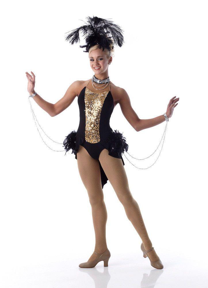 Viva Las Vegas Showgirl Jazz Tap Dance Costume Halloween Child Sizes