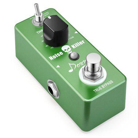 Donner Noise Killer Guitar Effect Pedal Noise Gate Pedal 2 Modes - Walmart.com #guitarpedals