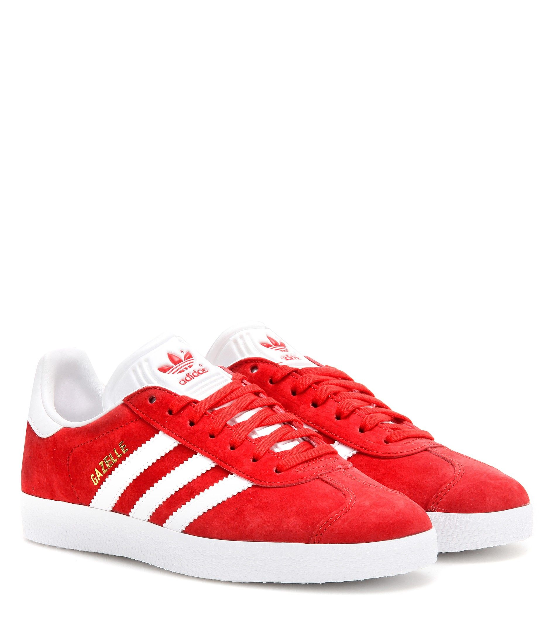 best website 8eb77 f4418 Rote Sneakers Gazelle aus Veloursleder