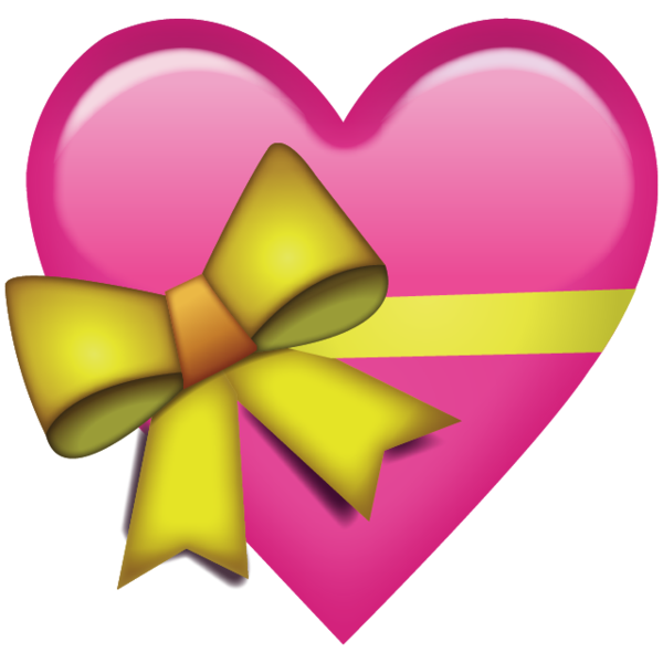 Pink Heart With Ribbon Emoji Heart emoji, Pink heart