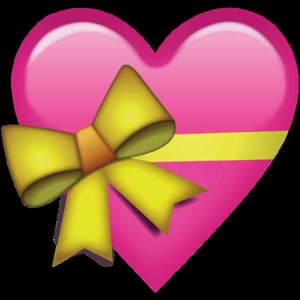 Pink Heart With Ribbon Emoji Heart Emoji Emoji Art Emoji Flower