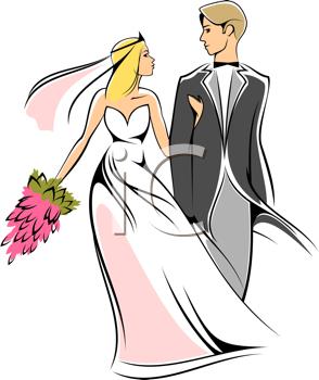 Bride and Groom Clip Art
