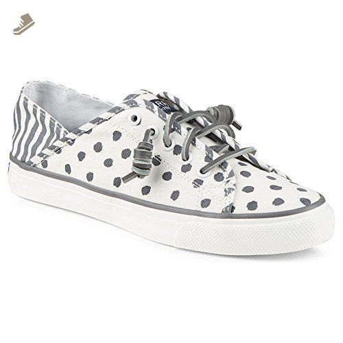 Sperry Top Sider Women S Seacoast Isle Painted Dot Medium Grey Sneaker 6 M B Sperry Sneakers For Women Am Sperry Sneakers Grey Sneakers Sperrys