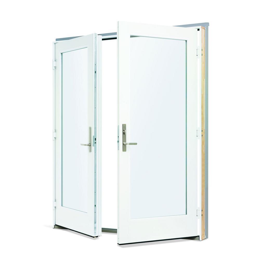 Andersen 72 In X 80 In 200 Series Fiberglass White Inswing Hinged Patio Door 9180302 In 2020 Hinged Patio Doors Patio Doors Glass Doors Patio