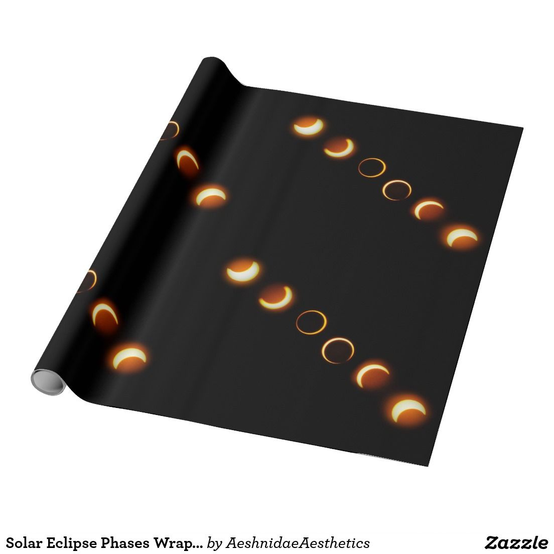 Solar Eclipse Phases Wrapping Paper