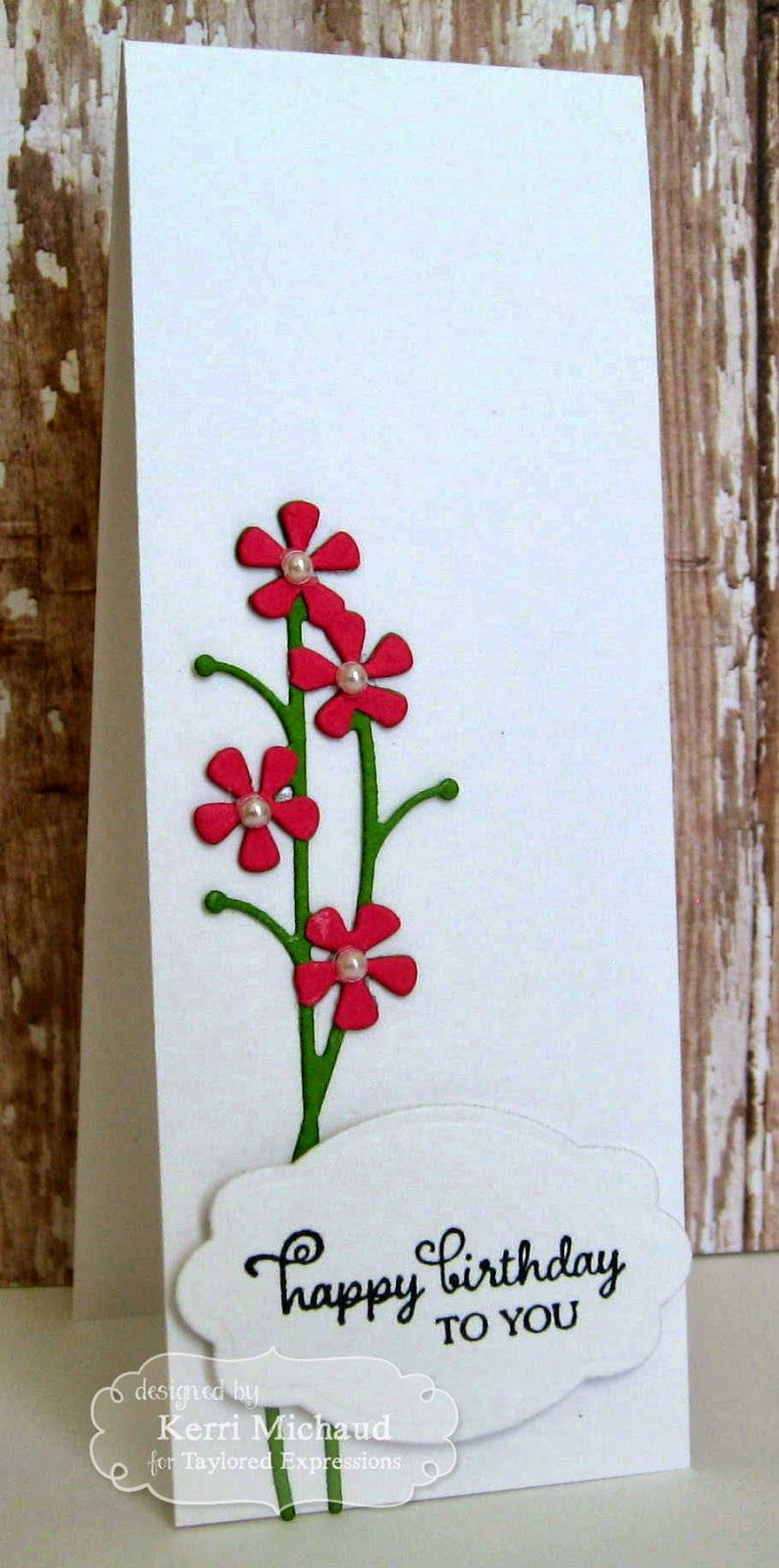 Te greetings for her as well as a new die called silhouette stems