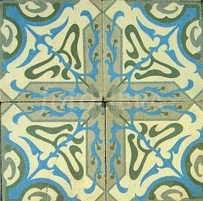 Art Nouveau Floor Tiles Repeating Design A Section Of C 1900 Antique French Encaustic Tiled With Diagonal