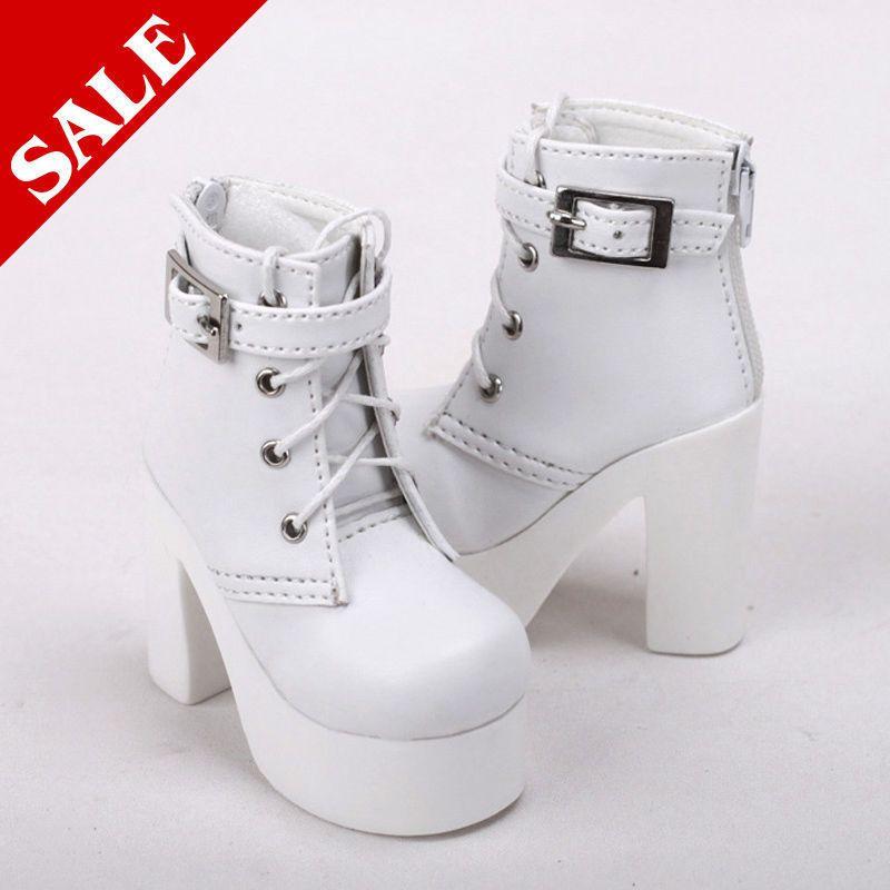 1//3 BJD Shoes SD Dollfie Lolita Shoes MID AOD Luts DOD SOOM DZ black High heels