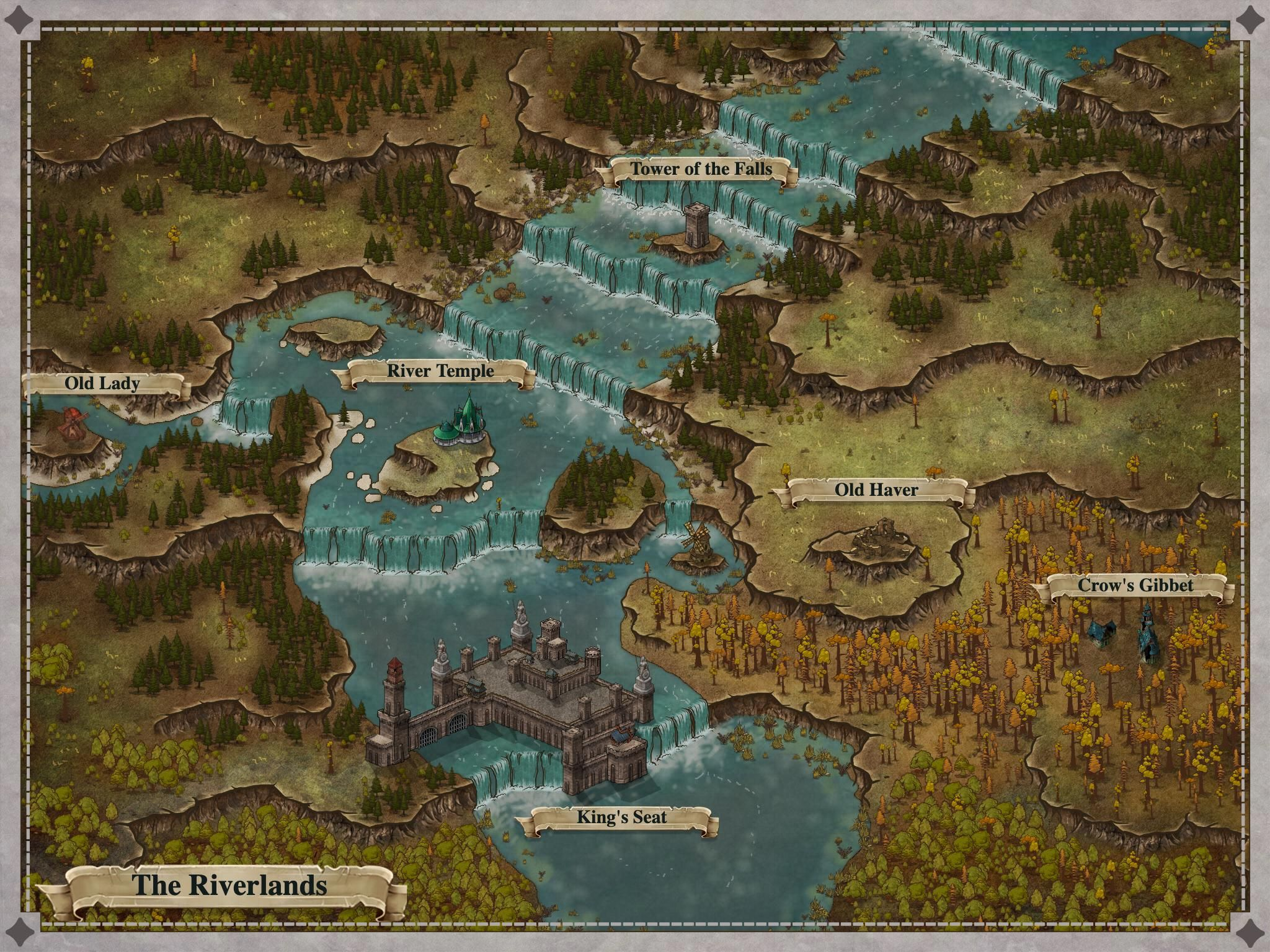 Region Map The Riverlands 1 Fantasymaps Fantasy Map Dungeons And Dragons Homebrew Map