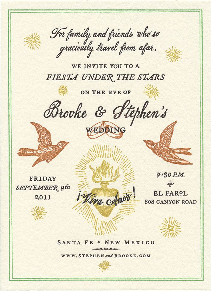 Santa Fe Wedding Wedding stationery, to the