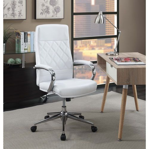 desk chair best buy drafting table chairs picket house atkins ergonomic mid back executive office white