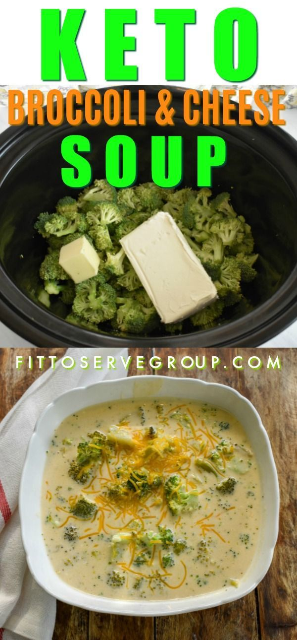 Easy Keto Broccoli Cheese Slow Cooker Soup! · Fittoserve Group