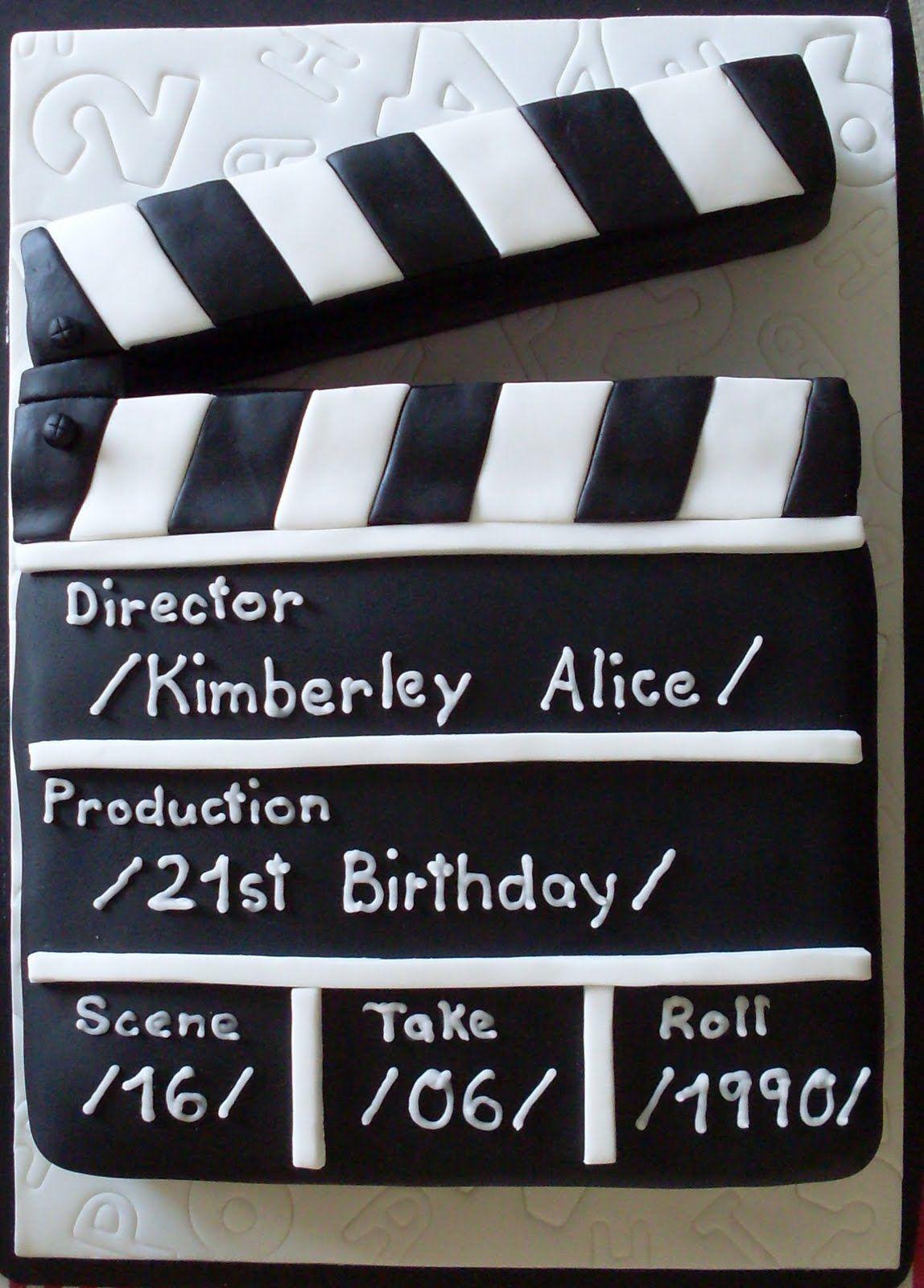 Clapperboard Big Cake Crazy Cakes Hollywood Cake