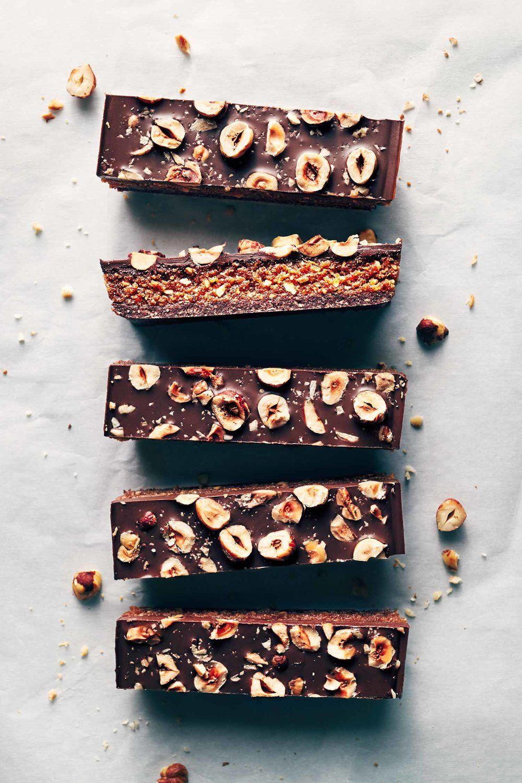 Chocolate Hazelnut Praline Bars