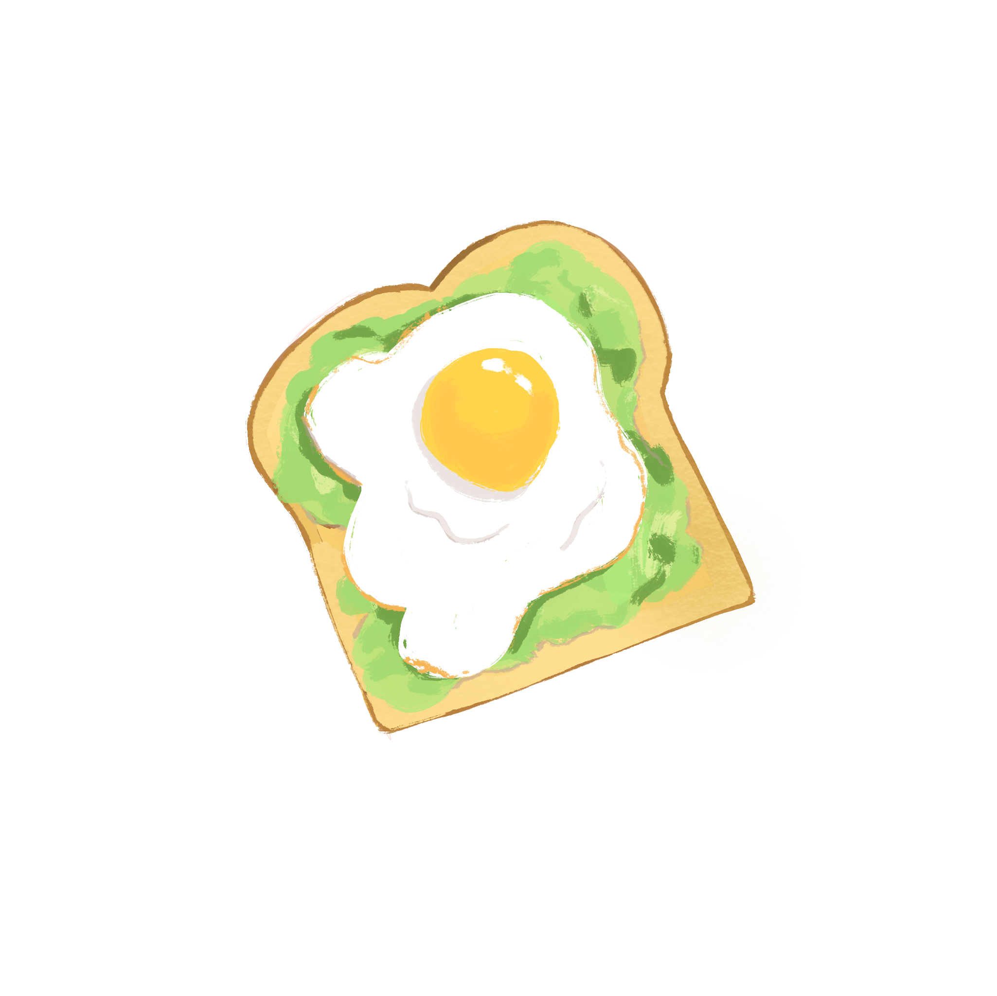 Avocado Toast Sticker By Szdesignss In 2021 Cute Cartoon Wallpapers Cute Drawings Avocado Toast