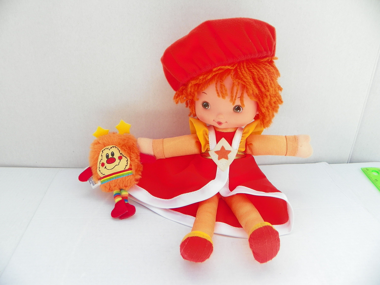 vintage la la orange rainbow brite doll color kids rainbow brite