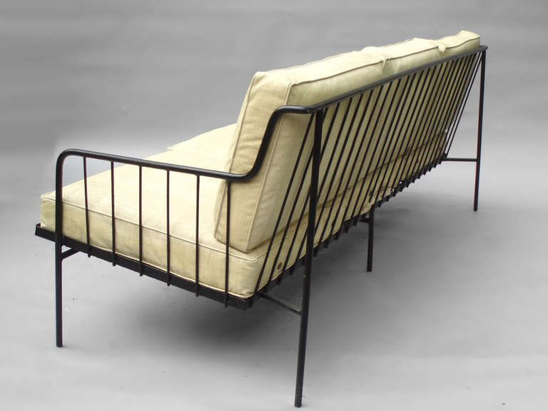 Rare Wrought Iron Couch With Matching Chair By George Nelson