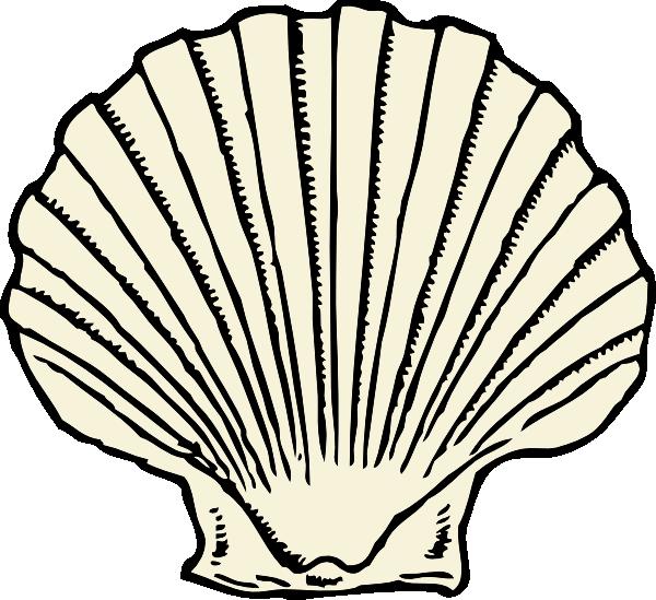 scallop shell outline no color tattoo ideas pinterest rh pinterest com open clam clipart clam clip art free