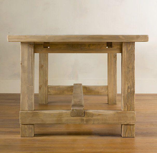 Farmhouse Salvaged Wood Rectangular Extension Tables | Rectangular Dining  Tables | Restoration Hardware