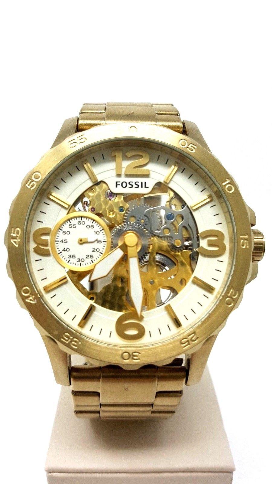 Daftar Harga Fossil Es3947 Update 2018 Loop Ekskul Steam Wallet 15 Nate Mechanical Oversized 50mm Gold Skeleton Stainless Steel Watch Me3150 Watches For Men