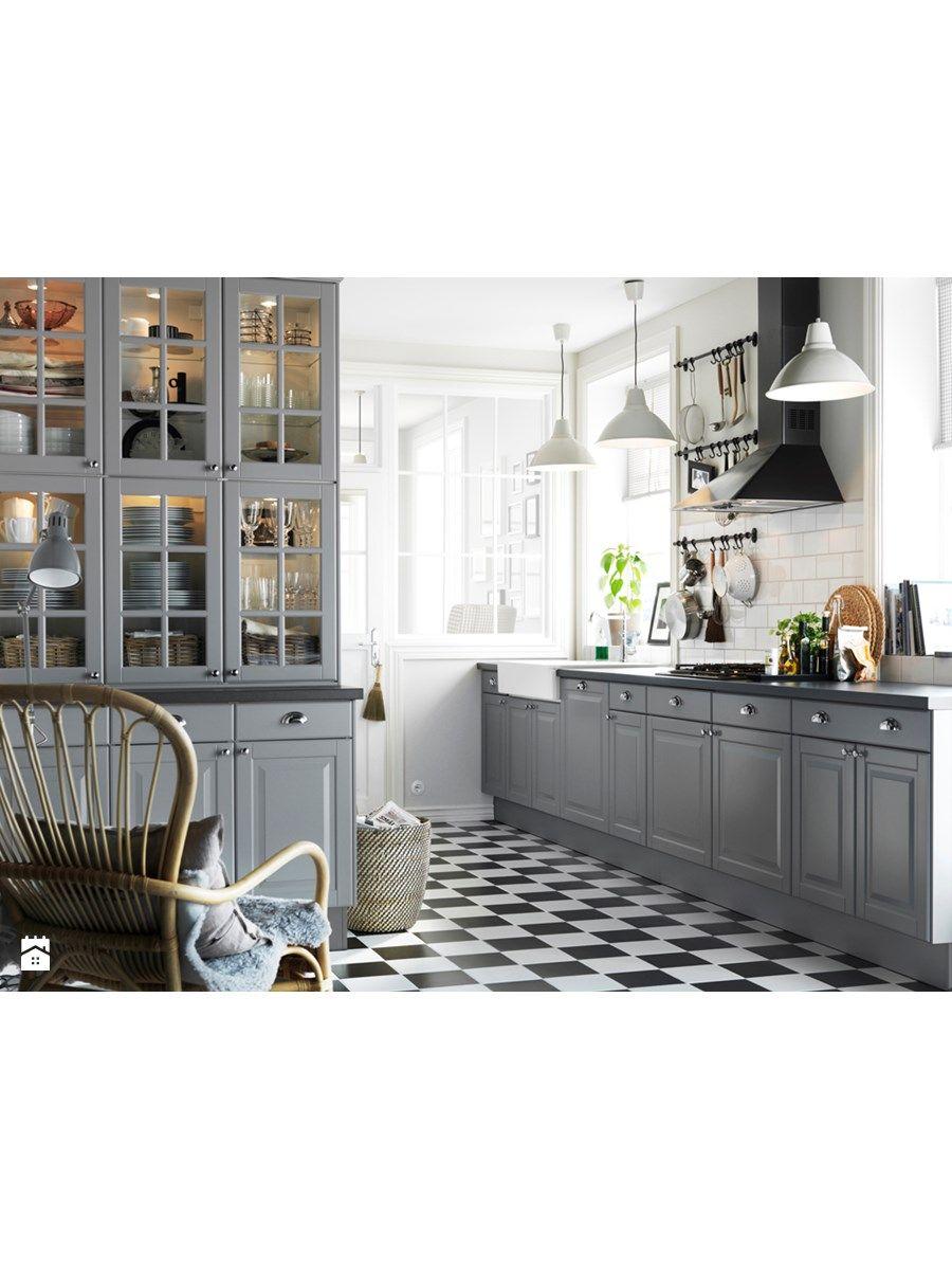 cottage grey kitchen...   Ikea kitchen cabinets, Grey ...