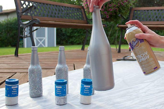 How To Glitterfy Wine Bottles Let Love Sparkle Glitter Wine
