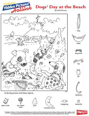 Clever image with regard to highlights hidden pictures printable worksheets