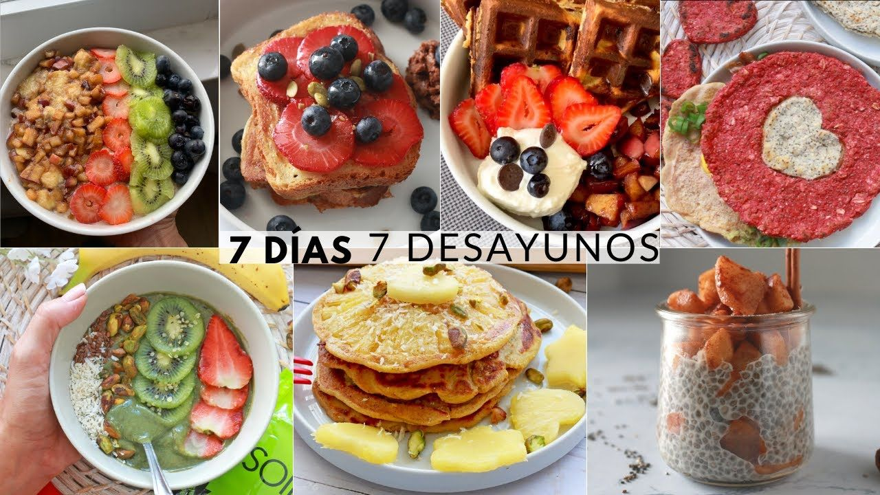7 Desayunos Fáciles Y Saludables Con Avena Huevos Y Frutas Breakfast Yummy Breakfast Healthy Breakfast